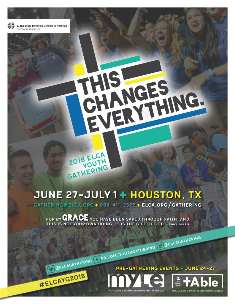 2018 ELCA Youth Gathering Poster