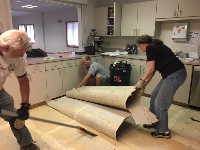 Kitchen floor tear out